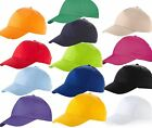 3 x US BASIC 100% COTTON BASEBALL CAP HAT 8 COLOURS FAST DAILY DISPATCH