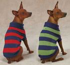Dog Rugby Sweater XXS-XL  NEW  Casual Canine Stripes Striped red blue green