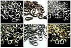 20pcs Silver/Gold/Darksilver/Bronze/Black Metal Lobster Parrot Claw Clasps 12mm