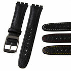 High Quality Genuine Leather Watch Strap for Classic Standard Size - 17mm SWATCH