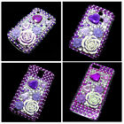 Purple Bling Crystal Diamond Rhinestone Snap-On Back Hard Case Cover Skin New