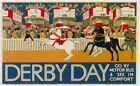 London Underground - Derby Day 1928 LU059 Art Print Poster A4 A3 A2 A1