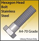 M6 M8 M10 M12 Hex Head Bolt, Hexagon Head Bolt A4 Stainless Steel (Marine) Bolt