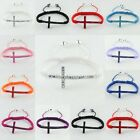"1PC 7.5-10"" Cross Curved Side Ways Crystal Connector Macrame Adjustable Bracelet"