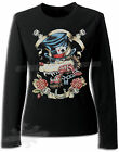 ROCKABILLY,TATTOO,LUCKY WOLF DICE CARDS,LADIES LONG SLEEVE T SHIRTS-XXL