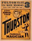 Vintage Thurston Famous Magician Poster CIRCUS0504 Art Print A4 A3 A2 A1