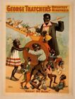 Vintage George Thatchers Minstrel Poster CIRCUS0738 Print Canvas A4 A3 A2 A1