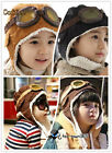 Autumn Winter Warm Cool Child Baby Boy Girl Kids Pilot Aviator Lamb Ear Cap Hat