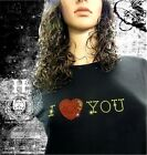 T Shirt Femme Hell Head  I Love You, Strass , Mode, Vintage, Fashion, Original
