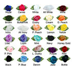 10 Large Satin Ribbon Roses  - Choice of Colours