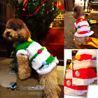 Merry Christmas Tree Pet Dog Clothes costume Coat hoodie Jackets Jumper Outwear
