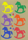 Your choice of colors on Rocking Horses Die Cuts - AccuCut