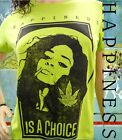 Tee Shirt Femme Hell Head  Happiness is a Choice VERT, Mode, Vintage, cannabis