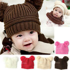 Fashion Baby Love Dual Ball Girls/Boys Knit Sweater Cap Winter Hat BY-CT-A