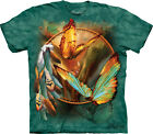 SPIRIT OF BUTTERFLY - Cotton T-Shirt -The Mountain Classic Green Tie-Dye-10-3343