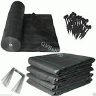 VARIOUS SIZES of HEAVY DUTY GARDEN & DRIVEWAY WEED CONTROL FABRIC + Pegs Option