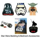 STAR WARS BEDDING & BEDROOM ACCESSORIES - NEW - OFFICIAL - FREE UK DELIVERY