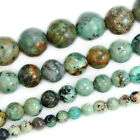 "Natural African Turquoise Round Gemstone Beads 15.5"" 4mm 6mm 8mm 10mm 12mm"