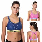 Women's High Impact Wire Free Non Padded Racerback Run Sports Bra