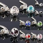 Mix Colors Crystal Rhinestone Angel's Eye Dangle Charms European Bracelet Beads