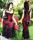 L12 LACE GOTHIC LONG BLACK FISHTAIL CORSET SKIRT
