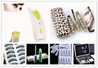 10pairs fiber false eyelashs /eye lash extension kits /glue Mascara /curler pick