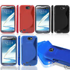 S Wave Series Silicone Gel Rubber Soft Grip Case FOR Samsung Galaxy NOTE 2 N7100