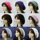 Fashion Lady Women Winter Beret Braided Baggy Beanie Knitted Hat Cap