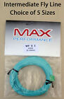 Max Performance WF Intermediate Fly Lines Choice of 5 sizes Aqua Blue trout/game