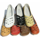 Leather flat Ballet Slip On loafers Shoes moccasins walking shoes [JG]