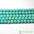 Howlite Turquoise Gemstone Round Loose Beads 16'' 4mm 6mm 8mm 10mm 12mm 14mm