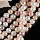 "15"" MULTICOLOR 6MM round FRESHWATER PEARL BEADS (60) jewelry making  [JG]"