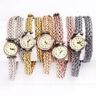 New Vintage Roman Dial Women Long Braided Weaved Rope Band Wrist Watch 5 Colors