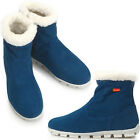 New Mens Stylish Casual Winter Snow Warm Ankle Boots Blue