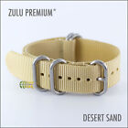 ZULU MILITARY NATO WATCH STRAP 5 RINGS DESERT SAND