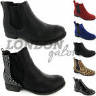 LADIES WOMENS GUSSET FLAT LOW HEEL ANKLE CHELSEA SLIP PULL ON BOOTS SHOES SIZE