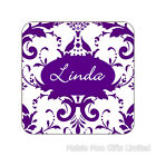 Personalised Pink Purple Floral Wooden Gift Coaster Birthday Christmas Mum