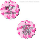 Personalised Metal Pet Dog Cat Double Sided Flower Address Phone Number ID Tag