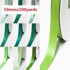 "Double Faced Satin Ribbon 3/4"" / 19mm. Wholesale 100 Yards, lime to green"