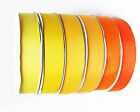 "Grosgrain Ribbon Wholesale 6mm 1/4"" Wide 100 Yards YELLOW s to ORANGEs for cake"