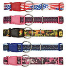 Neoprene Dog Collar Pet Collars Flag, Aztec & Floral Patterns pink red yellow