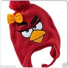 """KIDS S/M 18"""" L/XL 20"""" KNIT ANGRY BIRDS EARFLAP HAT ~ OLD NAVY ANGRY BIRD TRAPPER"""