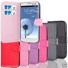 For Samsung Galaxy Note 2 N7100 Side Soft PU Leather Card Holder Wallet Case