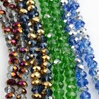 Faceted Crystal Glass Loose Beads Fit Jewelry Making DIY Findings Pick Colors
