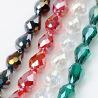 60pcs 8*13mm Faceted Teardrop Crystal Glass Loose Beads Fit Jewelry Making DIY