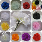 144Silk flower Artificial Carnation picks BLUE or MIX COLOURS Wedding Funerals .