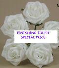 BULK BUY 120 ARTIFICIAL FOAM ROSES  WHITE OR IVORY.***limited stock***.27p each