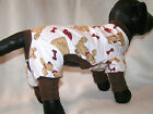Brown Slippers DOG PJS 4 legged Flannel Pajamas pet apparel TC XXS XS S S/M or M