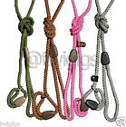 HI-CRAFT 🐶 Dog Slip Lead 8mm Nylon Rope Pink Green Brown Silver 🐕 BARGAIN