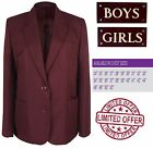 Kempsey Maroon Burgundy School Blazer Girls Sizes 24 25 26 27 28 29 30 31 32 33